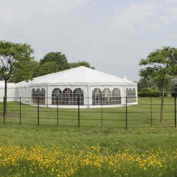 clearspan marquee in field