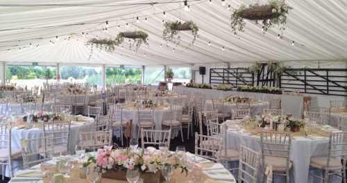 rustic country marquee interior