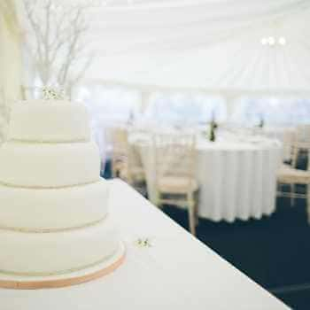 wedding cake on a table
