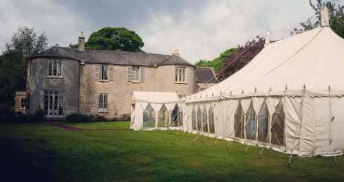 Traditional marquee with windows