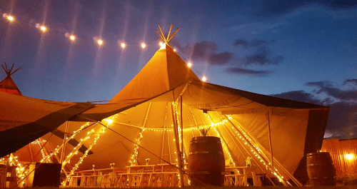 Tipi tent lighting inside