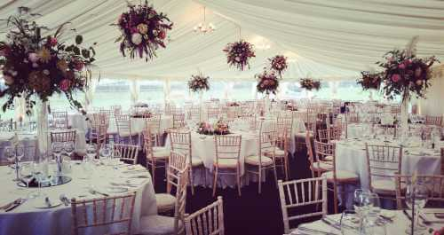 Clearspan marquee interiors