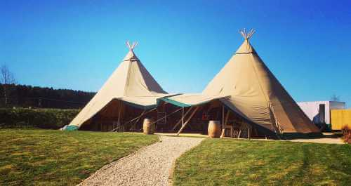 tipi exterior in summer