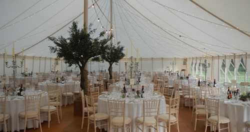 traditional marquee in the day