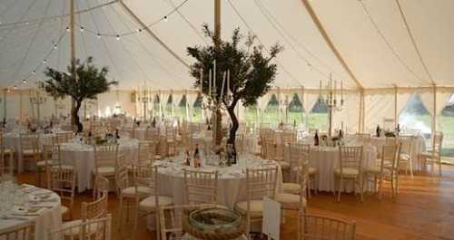 traditional marquee wedding interior