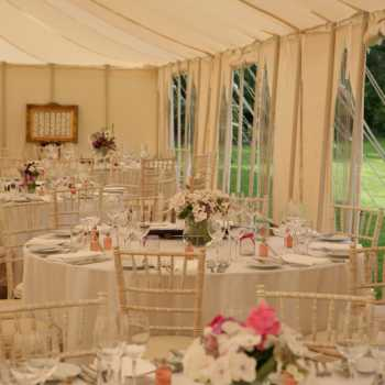 traditional marquee with open sides