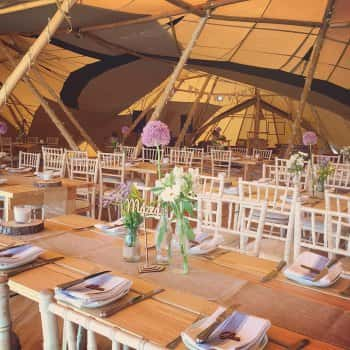 Tipi marquee decorations