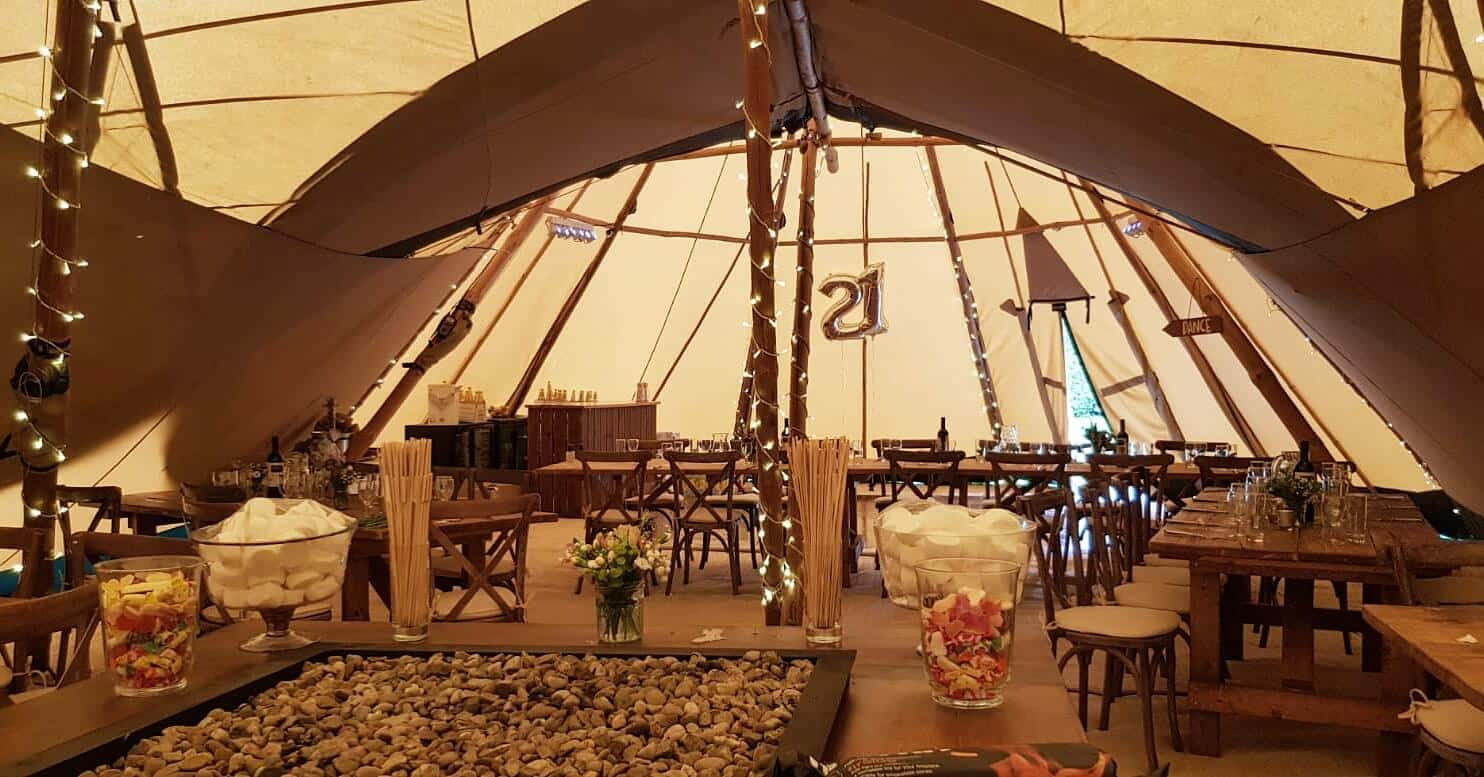 Benefits of hiring a marque - Tipi Marquee